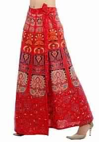 Wrap Around Long Skirt With Beautiful Block Print