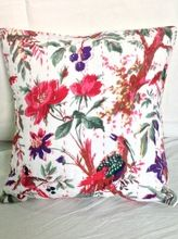 Block Printed Kantha Cushion Cover
