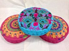 Cotton Suzani Embroidered Chair Pad