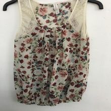 Sleeveless Ladies Blouse With Floral Pattern