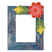 Wooden Crafted Handmade Decorative Flower Photo Frame
