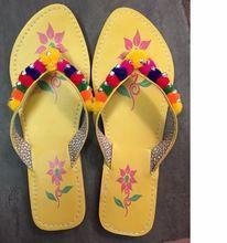 Handmade Leather Pom Pom Jaipuri Slipper