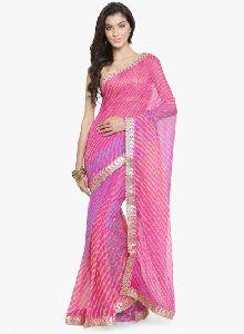 Pink Dyed Saree