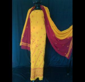Kia 2 Shade Lucknowi Chikan Suit Material