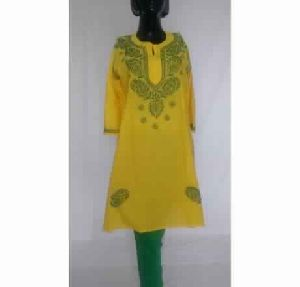 06758ba72 Embroidered Cotton Kurta - Manufacturers, Suppliers & Exporters in India