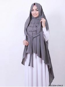 Grey Nida Self Party Hijab