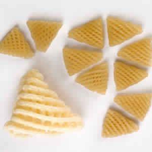 Triangle Lattice Shape Snacks