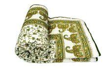 Reversible Cotton Bedspread Bedding Handmade Throw
