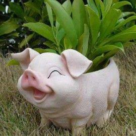Smiling Pig Flower Pot