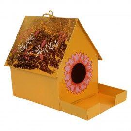 Wonderland Bird House with Feeder Rope