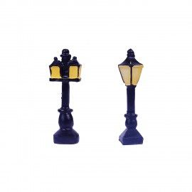 Wonderland Set Of 2 Miniature Street Lights For Bonsai Decoration