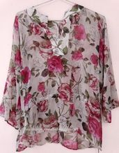 Beach Wear Cover Up Printed Blouse