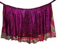 Layered Silk Sari Wrap Skirt