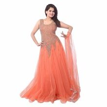 Women All Color Ethnic Semi-stitched Embroidered Work Gown