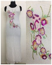 Bandage Bodycon Sleeveless Evening Party Cocktail Hand Embroidered Dress