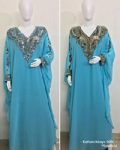 Islamic Women Long Sleeve Vintage Cocktail Maxi Dress
