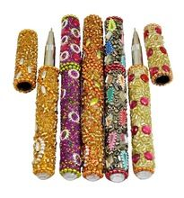 Rajasthani Table Decorative Useful Pens 5 Inches Multi Color