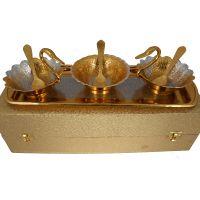German Silver Duck Bowl Set