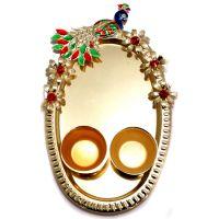 Peacock Design Small Puja Plate