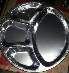 "Compartment Paper Plate 14"" Size"