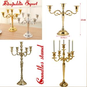 Brass Aluminum Candle Stand