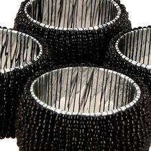 Black Color Glass Beaded Napkin Ring