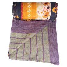 Cotton Kantha Work Quilt