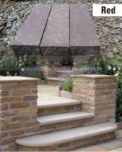Red Bullnose Steps