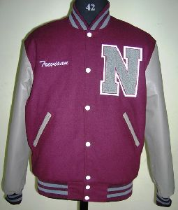 Maroon And Grey High School Varsity Jacket