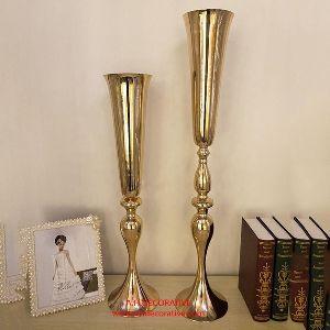 Gold Decorative Metal Flower Vase