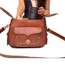 Genuine Vintage Leather Camera Case / Unisex Soft Leather Camera Bag
