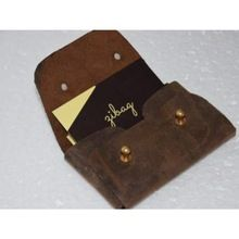 Vintage Leather Card Wallet, Id Card Purse, Leather Id Card Holder