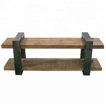Dutch Collection Wood And Iron Media Unit Big