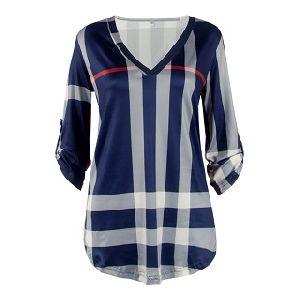 Ladies Striped V Neck T-shirts