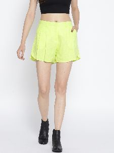 Ladies Yellow Short Skirt