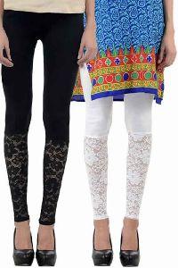 Half Net Designer Indian Leggings