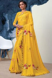 Indian Embroidery Print Sarees