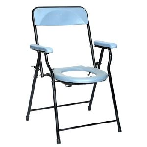 Mild Steel Pipe Folding Commode Chair