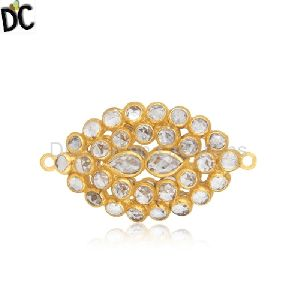 92 5 Silver Gold Plated White Zircon Jewelry