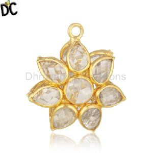 92 5 Sterling Silver Gold Plated White Zircon Jewelry
