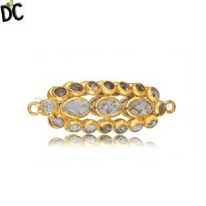 Sterling Silver White Zircon Gold Plated Jewellery