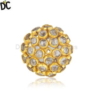 Yellow Gold Plated 925 Silver White Zircon Jewelry