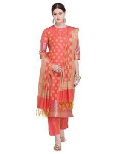 Banarasi Cotton Silk Suit