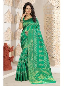 Indian Designer Kanjivaram Art Silk Saree With Free Blouse