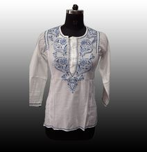 Embroidered Cotton Tunic Top