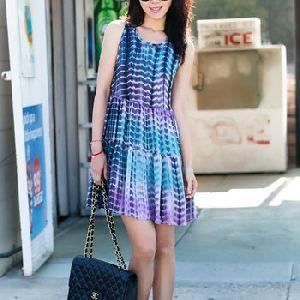 Sleeveless Tie Dye Stylish Dress