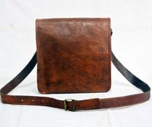 Real Goat Leather Vintage Messenger Bag