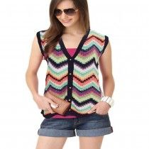 Ariete Women Knitted Sleeveless Cardigan Sweater