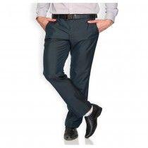 Blue Regular Flat Trouser For Boys