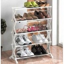Foldable Stainless Steel Shoe Rack